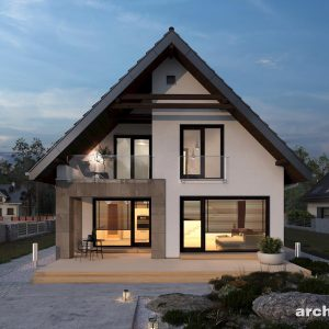 Dwuspadowy dach w domu