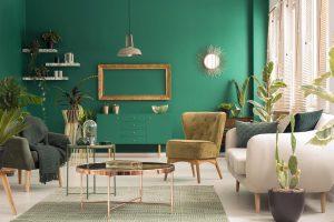 Zielone ściany w domu